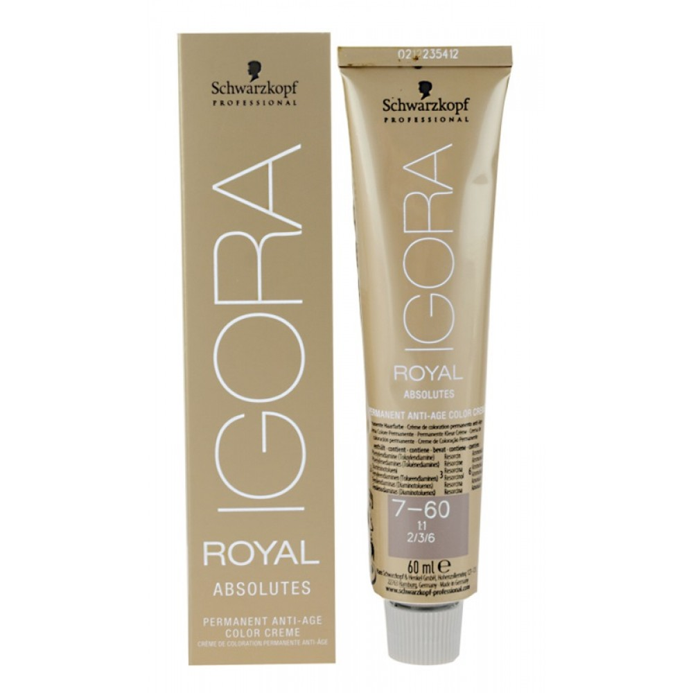 Крем-краска ABSOLUTES Igora Royal Schwarzkopf 100% покрытие седины